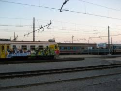 Sezana Railway Station at 19.43