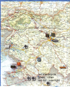 Matkareitti kartalla