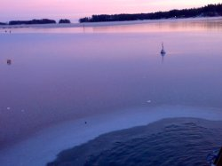 the Finnish winter swimming pool