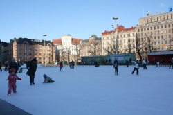 Skating on the Railway Square