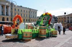 Helsinki Samba Carnival preparations