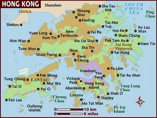 Map of Hong Kong by Lonely Planet
