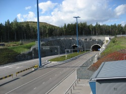 Truck tunnels leading to ringroad traffic network
